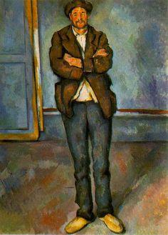 Man in a room - by Paul Cezanne  #cezanne #paintings #art