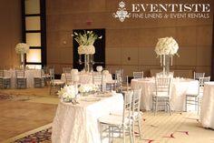 white glam wedding