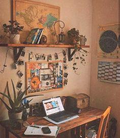 User image found ♡ E M M A ♡. - vintage room decor - User image found ♡ E M M A ♡. On… – Vintage room decor, - Bedroom Desk, Room Ideas Bedroom, Bedroom Inspo, Bedroom Designs, Modern Bedroom, Budget Bedroom, White Bedroom, Bedroom Vintage, Contemporary Bedroom