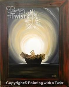New painting ideas on canvas acrylic easy christmas 46 ideas Nativity Painting, Tole Painting, Painting & Drawing, Christmas Paintings On Canvas, New Blue, Learn To Paint, Christmas Art, Christmas Ideas, Painting Inspiration