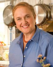 Lidia-Bastianich. I have her book Lidia's Italian- American Kitchen autographed That I bought from a lovely local bookstore called The Lift Bridge. Brockport is on The Erie Canal. Anyhow her book keeps me company in my little kitchen.