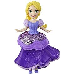 Disney Princess Rapunzel Collectible Doll with Glittery Purple One-Clip Dress, Royal Clips Fashion Toy Disney Princess Doll Collection, Disney Princess Ages, Disney Princess Makeup, Princess Rapunzel, Princess Toys, Disney Rapunzel, Toy Story, My Little Pony, Heros Disney