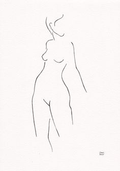 Original ink line drawing of female nude figure. The artwork is on A4 size (21x29.7 cm / 8.3 x 11.7) watercolor paper (slightly cream toned), and hand drawn with ink. Signed and ready to ship! NOT framed! size - 8.3 x 11.7 / 21x29.7 cm Combine with: https://www.etsy.com/listing/238292448/woman-figure-drawing-from-back-original?ref=shop_home_active_4 And / or https://www.etsy.com/listing/237821865/small-format-black-and-white-line-art?ref=shop_home_active_11 ------- View more art: https://...