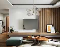 42 Fabulous Modern Apartment Design Ideas To Get Cozy Room is part of Modern living room wall - You might ponder precisely what to do to make your apartment or home There are sure components of outline that […] Living Room Tv Unit, Cozy Living Rooms, Living Room Modern, Interior Design Living Room, Design Interiors, Apartment Living, Cozy Apartment, Living Room Shelving Units, Studio Apartment