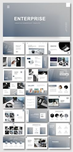 2 in 1 Blue & Gray Business Presentation Template - Web-Design Design Powerpoint Templates, Template Brochure, Template Web, Powerpoint Slide Designs, Brochure Design, Flyer Template, Layout Template, Business Presentation Templates, Presentation Design Template