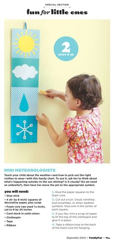 Family Fun magazine mini meteorologist