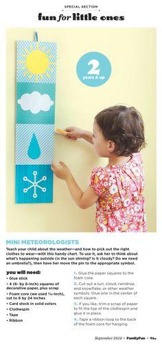 Family Fun magazine mini meteorologist