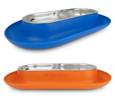 OK. So teeeechnically the Hepper Nom Nom Dish is for cats. But let's think outside the (litter) box, shall we? I love its clean design, bright colors, and clever kibble-and-water-catching lip. It's also dishwasher safe and comes with two (2!) removable stainless steel bowl inserts. And the size? Purrfect Perfect for small dogs (or, yes, cats).