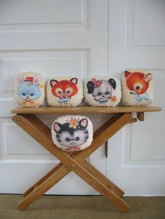 Animal Pillows #Nursery #Decor #Baby | vintagejane via Etsy