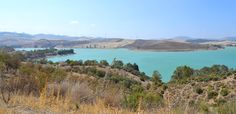 Embalse La Viñuela, a beauatiful lake. Andalusia, Countryside, Spanish, River, Mountains, Nature, Outdoor, Beautiful, Outdoors