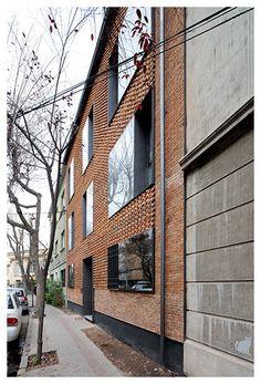 santiago chile brick housing apartments facade depth structure fabric 2015 :: EDIFICIO e.RC : mapa