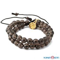 5cfb72b7342f Smoky Quartz Adjustable Wrap Mala Power Bead Bracelet - Wrap Bracelets -  Bracelets