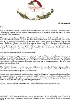 4 heartwarming letters to explain santa to your kids letter is santa real every year i write letters from santa to my friends kids this year some of them become part of the secret heres the last letter they will spiritdancerdesigns Gallery