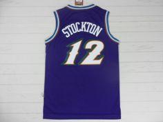 NBA Jerseys Utah Jazz 12 STOCKTON Purple Jersey