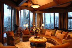 Living room.  Beautiful look.