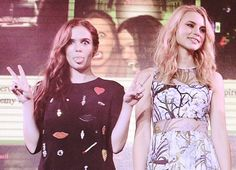 Zoey Deutch and Lucy Fry at the Vampire Academy Music Party.