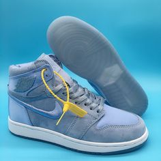 1e4803a19b New Air Jordan 1 Retro High SOH Hydrogen Blue White-Metallic Gold -  Mysecretshoes