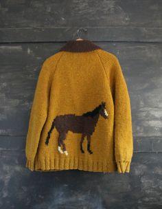 Vintage Cowichan Horse Sweater