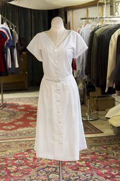 Cabaret Vintage - White Thin Pinstripe Vintage Dress, $38.00 (http://www.cabaretvintage.com/dresses/white-thin-pinstripe-vintage-dress/)
