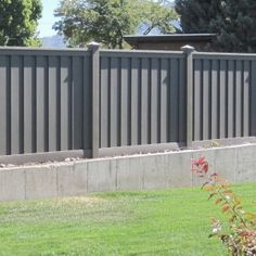 Wood Fence Alternative - Winchester Grey