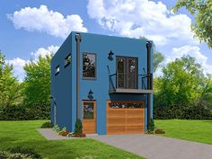 Garage Plan 51488 Modern With 572 Sq Ft 1 Bedrooms