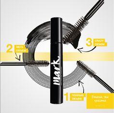 """Объем. Больше объема. И еще больше объема! С новой тушью от Avon Mark ты можешь выбрать свой """"режим"""" окрашивания ресниц в один клик!"""