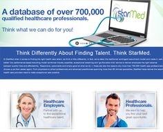 StarMed: a healthcare recruiting site.