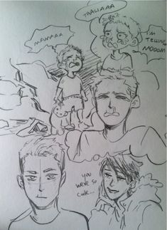 minuiko:  Some babby Jason scribbles on the plane