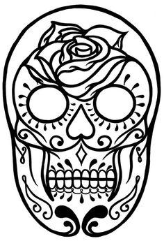 Sugar Skull Outline | 3199095957_3de0e979cd.jpg