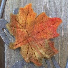 a knittd leaf would be great to begin learning to felt