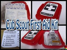 cub scouts Paws on the Path: Simple First Aid kit made from Dollar Tree finds (Wolf Cub Scout Adventure) Cub Scouts Wolf, Tiger Scouts, Scout Games, Cub Scout Activities, Cub Scout Crafts, Pack Meeting, Scout Mom, Scout Camping, Brownie Girl Scouts