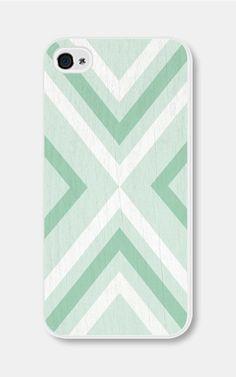 Geometric Phone Case Mint Green Chevron