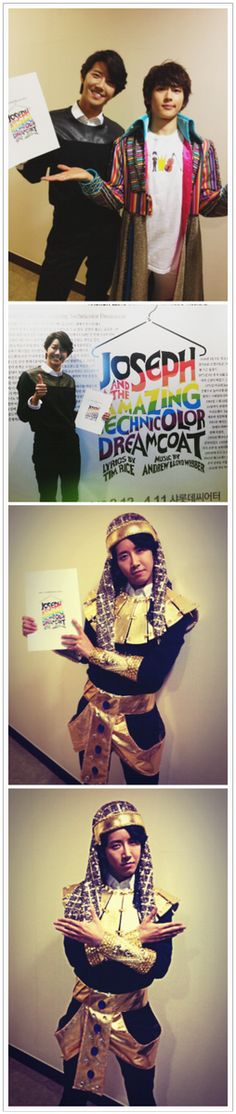 "ZE:A's Kwanghee becomes ""Kwang-seph"" to support Siwan's musical 'Joseph..."
