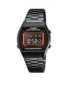 Casio Classic Digital Black Unisex Watch - NEW for sale online Casio Digital, Digital Watch, Casio Classic, Casio Vintage Watch, Casio Watch, Vintage Watches, Retro Watches, Black Stainless Steel, Stainless Steel Watch