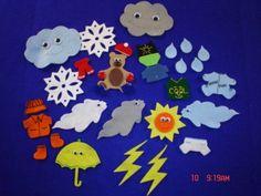 for B's felt board The Weather Bear Flannel Felt Board Story by creativefeltboards, $18.00
