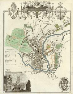 Map of Bath, England  (convexity, concavity, ascent and descent)