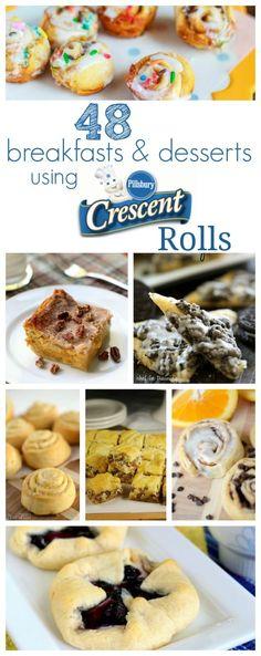 48 Breakfast and Dessert Ideas using Pillsbury Crescent Rolls - perfect for back to school! | www.crazyforcrust... #pillsbury by HeidiRuiz