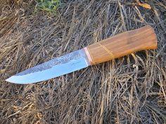 KirilVM handmade knives: Два ножа с ковани остриета от сребрянка / Two kniv...