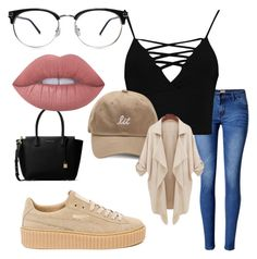 """""""Unbenannt #3"""" by leann-marie2003 on Polyvore featuring Mode, WithChic, Boohoo, Puma, MICHAEL Michael Kors und Lime Crime"""