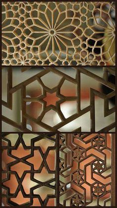 carved window screens in islamic geometry - Decorative Screens
