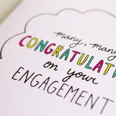 [caption id align=aligncenter Wedding Planning Sites - wedding - top wedding planning websites Congrats On Your Engagement, Engagement Cards, Wedding Engagement, Wedding Wall, Wedding Planning Websites, Congratulations Card, Casual Wedding, Hand Illustration, Plan Your Wedding