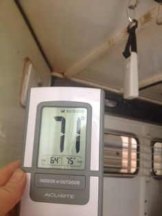 Get an inexpensive indoor / outdoor thermometer and set up the outdoor portion in your horse trailer during road trips to monitor the inside trailer temps. Put the reader in the cab of the truck when hauling.