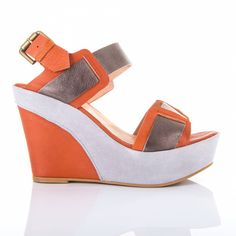 LiChiq Jeniffer Wedge - Orange/Grey