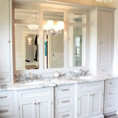 Ziegle Avenue Master Bath & Closet - Custom, luxurious master bathroom.  Gray painted inset