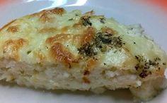 Receita de quiche de queijo com orégano para a fase ataque dukan.