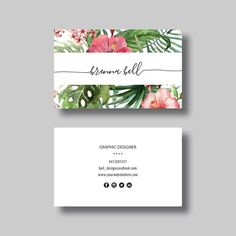 Business Card (Tropical) - Digital Design by BellGraphicDesigns on Etsy https://www.etsy.com/au/listing/277095066/business-card-tropical-digital-design http://www.sydra.blog/cartao-de-visita/ - Não é de admirar que o cartão de visita continuem a ser a ferramenta de marketing mais comum e universal no mercado de trabalho. O cartão de visita é simples, eficaz e ótimo para transmitir as suas informações de contacto. O cartão de visita é utilizado como lembrete e geralmente inclui o contacto, o…