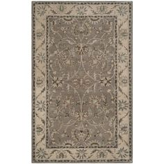 Shop for Safavieh Handmade Heritage Timeless Traditional Grey/ Beige Wool Rug (4' x 6'). Get free shipping at Overstock.com - Your Online Home Decor Outlet Store! Get 5% in rewards with Club O! - 17689622