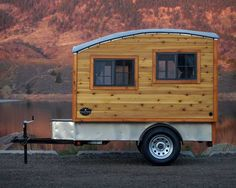 The Terrapin: Tiny Handmade Wooden Camping Trailer I am now in love with this! The simplicity is overwhelming. : The Terrapin: Tiny Handmade Wooden Camping Trailer I am now in love with this! The simplicity is overwhelming. Tiny Camper Trailer, Tiny Trailers, Small Trailer, Teardrop Trailer, Vintage Trailers, Gypsy Trailer, Travel Trailers, Teardrop Campers, Boler Trailer