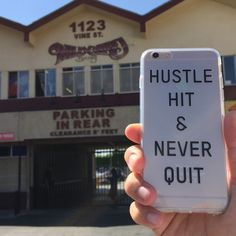 HUSTLE HIT & NEVER QUIT - Grind hard and stick to it.. Cause one day it should all payoff. Head over to http://www.flavorcases.com/collections/phrases-quotes/products/hustle-hit-never-quit