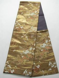 This is a contemporary Fukuro obi with beautiful woven pattern.